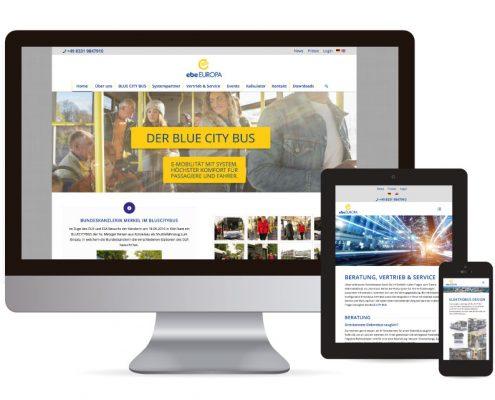 Webdesign mit Wordpress für ebe EUROPA