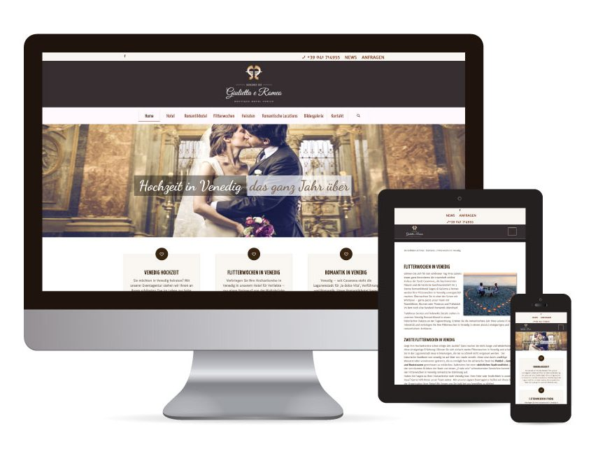Webdesign mit WordPress für Heiraten in Venedig