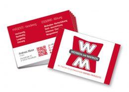 Visitenkarten drucken und gestalten für Werben mit Marken