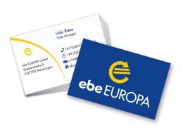 Visitenkarten ebe Europa