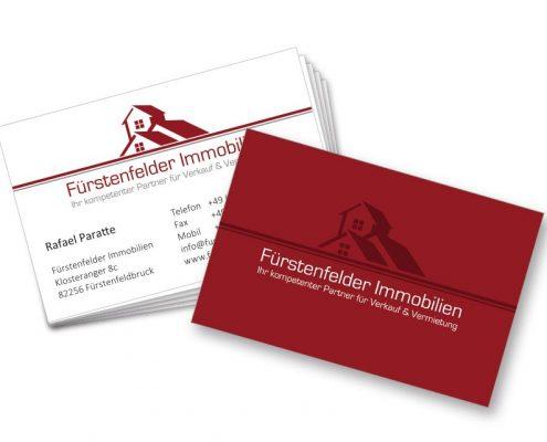 Visitenkarte folienkaschiert Fürstenfelder Immobilien