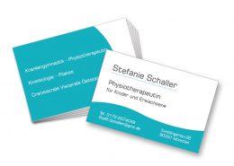 Visitenkarten Schaller - Physiotherapeutin