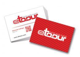 Visitenkarten partieller Lack Etoour