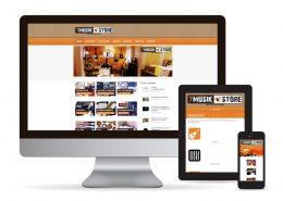 Webdesign WordPress 7 Music Store