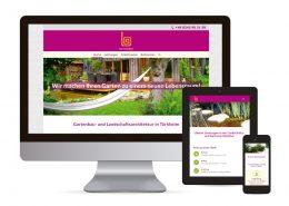 Webdesign mit Wordpress für GartenBaur