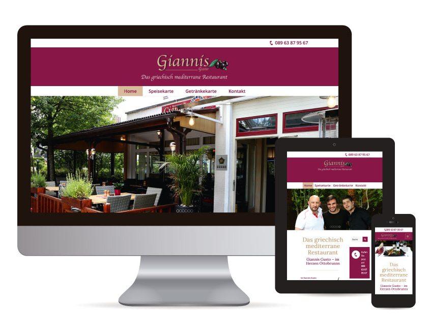 Webdesign mit WordPress für Restaurant Giannis Gusto