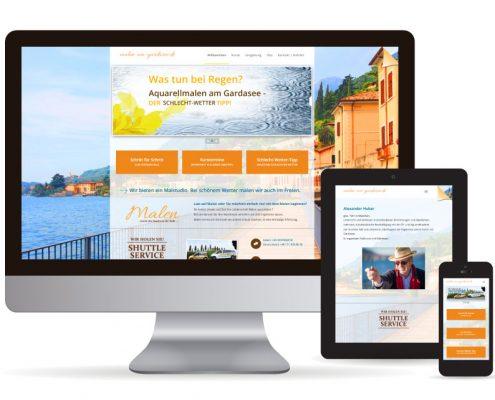 Webdesign WordPress Malen am Gardasee