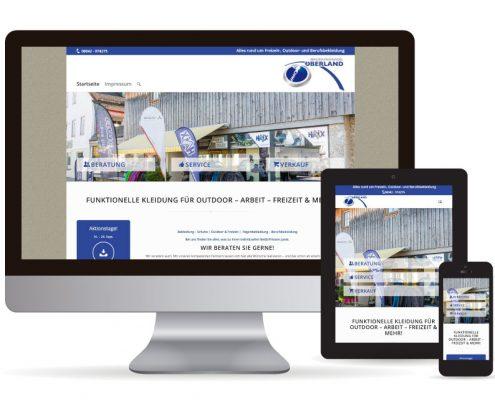 Webdesign WordPress Bekleidungshandel Oberland