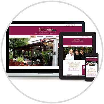 Webdesign und Hosting für Restaurant Giannis in Ottobrunn