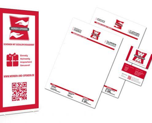 Geschäftsausstattung Werben & Spenden - Geschäftspapier, Visitenkarten, Roll-up