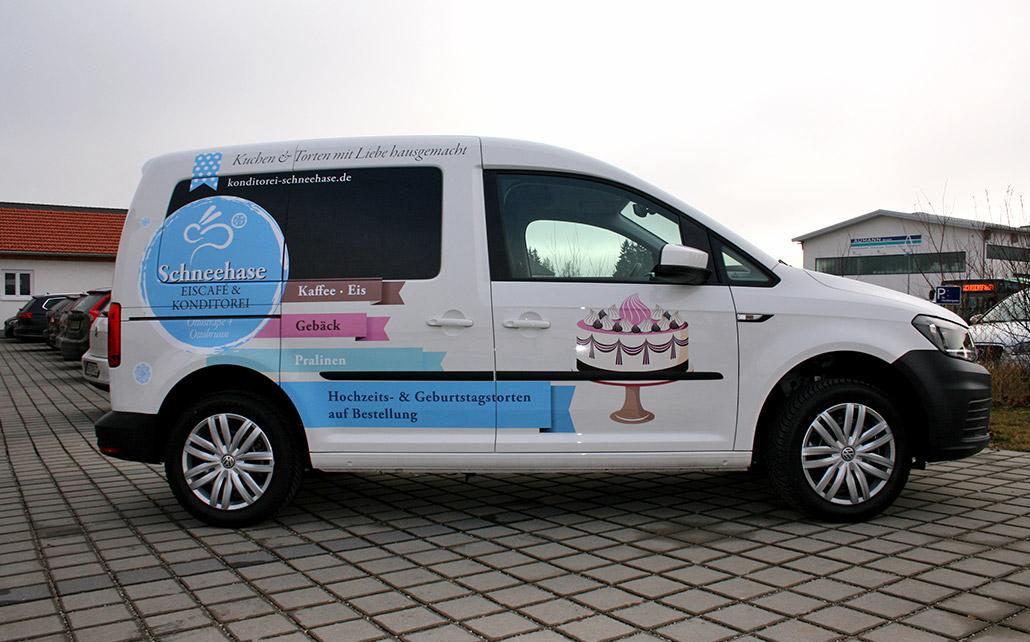 Car-Wrapping für Schneehase - Eiscafe & Konditorei