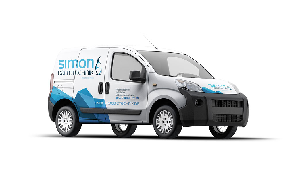 Car-Wrapping für Simon Kältetechnik