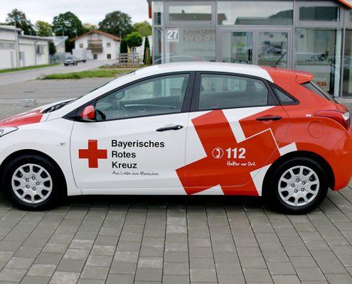 Car-Wrapping für Bayrisches Rotes Kreuz - Aus Liebe zum Menschen