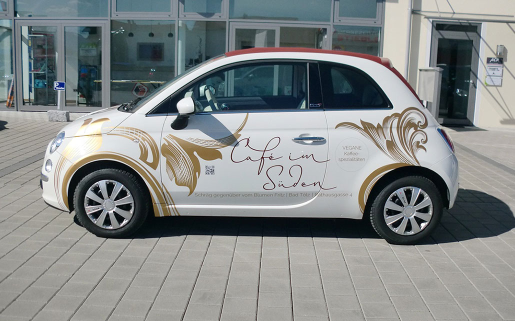 Car-Wrapping für Café im Süden in Bad Tölz