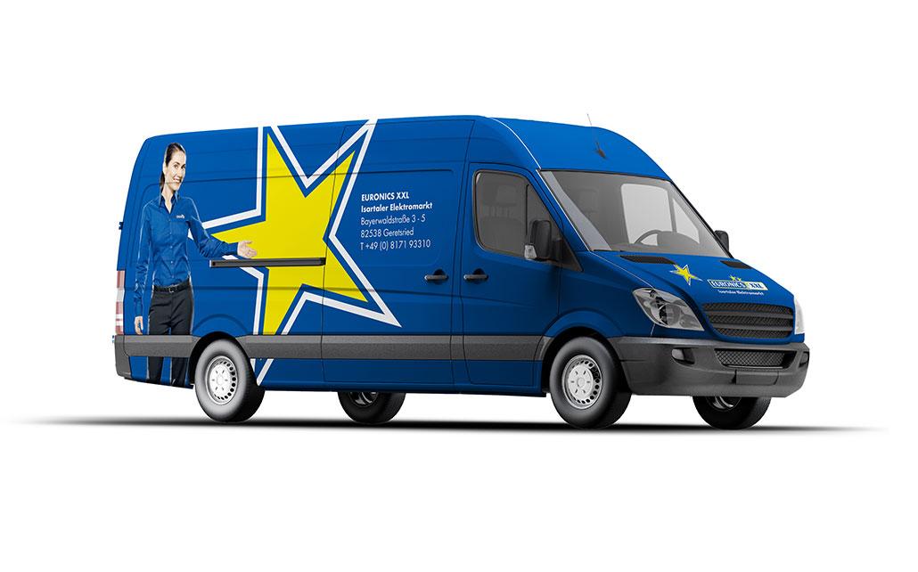 Car-Wrapping für Euronics XXL - Isartaler Elektromarkt