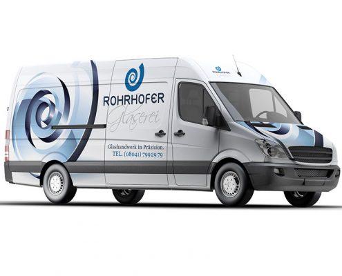 Car-Wrapping für Rohrhofer Glaserei - Glashandwerk in Präzision