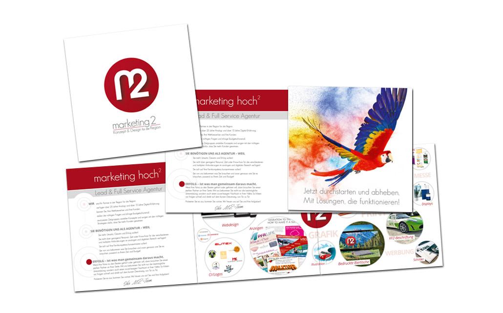 Flyer für Marketing 2 - Webdesign . Werbung . Marketing . München