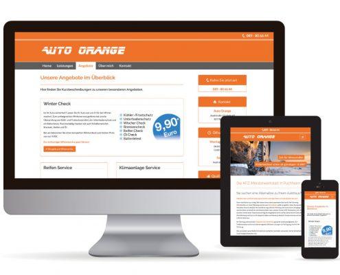 Webdesign WordPress Auto Orange Die Webseite für Auto Orange - Layout & Grafikdesign wurde mit WordPress erstellt.