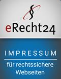 Impressum rechtssicher erstellt mit eRecht24