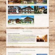 Webdesign für Tourismusportal BerglustPur - Design der Ferienwohnungsübersichtsseiten
