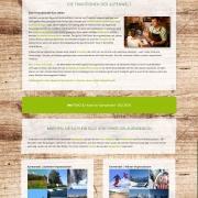 Webdesign für Tourismusportal BerglustPur - Design der