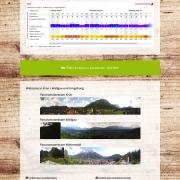Webdesign für Tourismusportal BerglustPur - Design der Wetter und Webcamseite