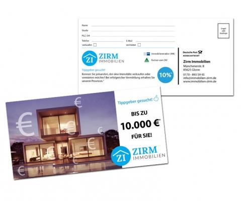 Immobilienmakler Flyer zur Kundengewinnung - Gestaltung & Druck