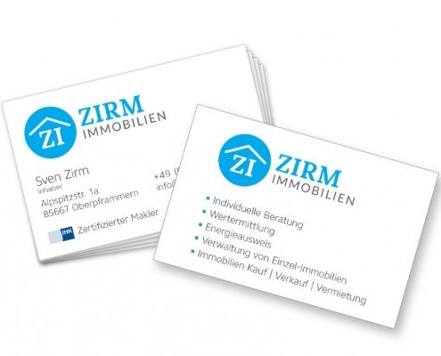 Immobilienmakler Visitenkarte - Gestaltung & Druck