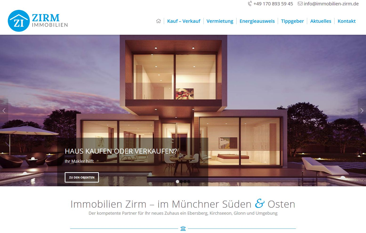 Wordpress Website für Immobilienmakler