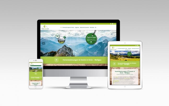 Webdesign mit Wordpress für BerglustPur FEWO-Portal