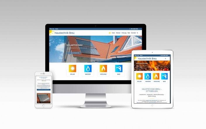 Webdesign mit Wordpress für Haustechnik Breu