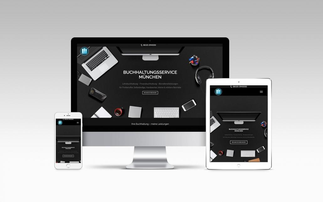 Webdesign mit Wordpress für Buchhaltungsservice