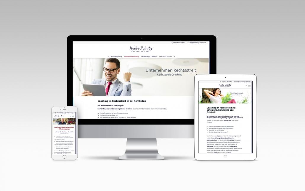 Webdesign mit Wordpress für Coaching Schatz