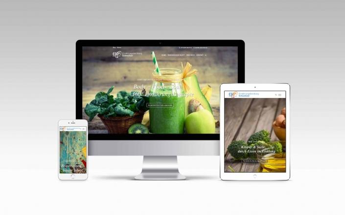 Webdesign mit Wordpress für Ernährungsberatung
