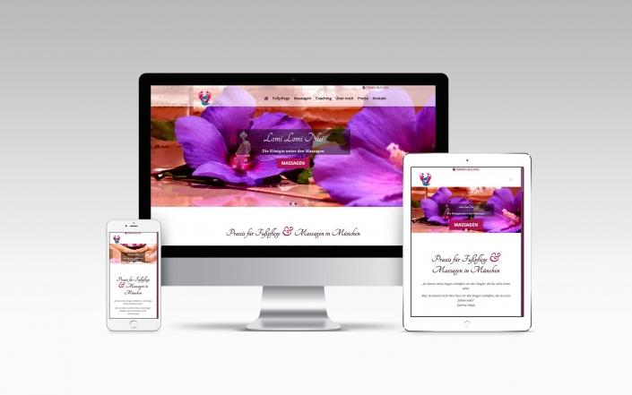 Webdesign mit Wordpress für Fußpflege & Massage