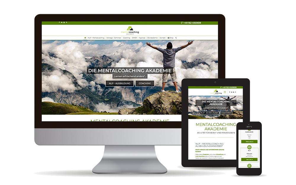 Webdesign mit Wordpress & Woocommerce-Shop für die Mentalcaoching Akademie