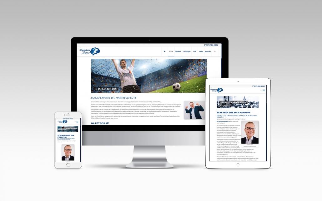 Webdesign mit Wordpress für Schlafcoach Dr. Martin Schlott