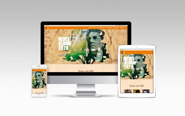 Webdesign mit Wordpress für Musiker - Sio Steinberger