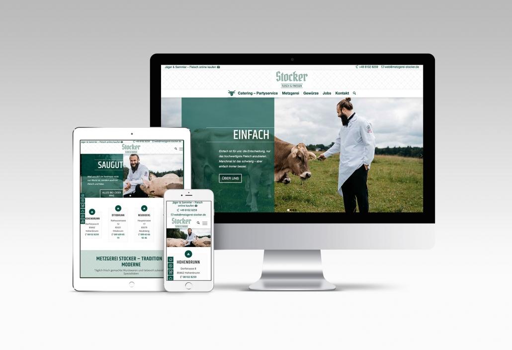 Webdesign mit Wordpress für Metzgerei Stocker