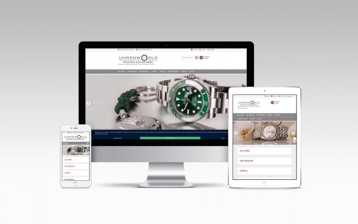 Webdesign mit XTCommerce-Shop für Uhrenworld