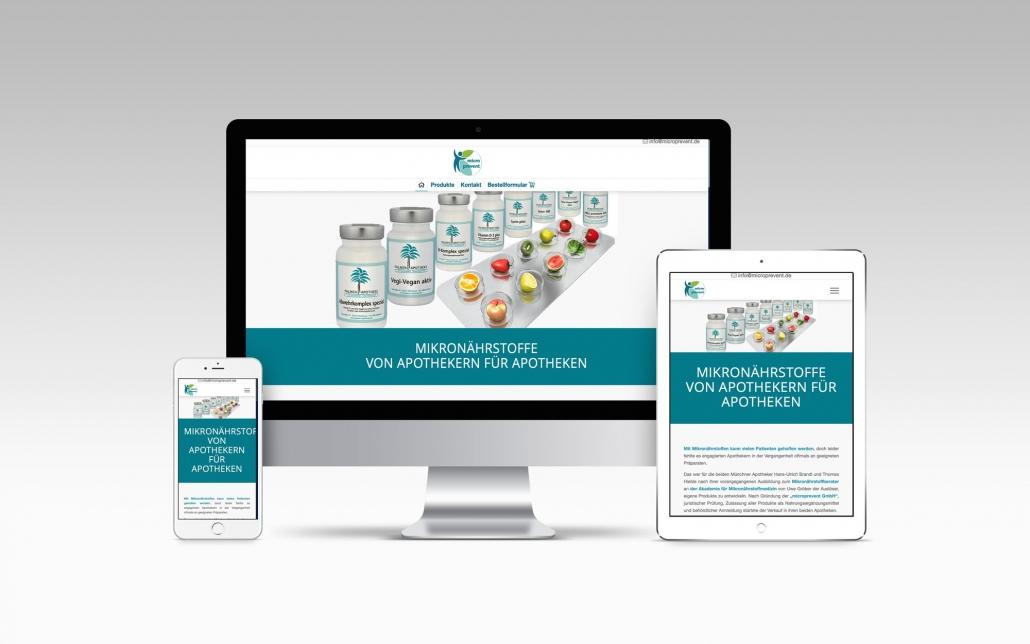 Webdesign mit Wordpress - Microprevent