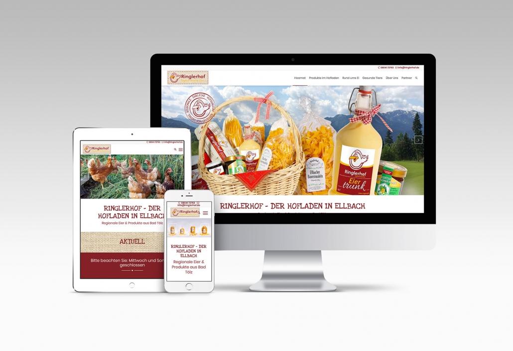 Webdesign mit Wordpress für Hofladen in Bad Tölz