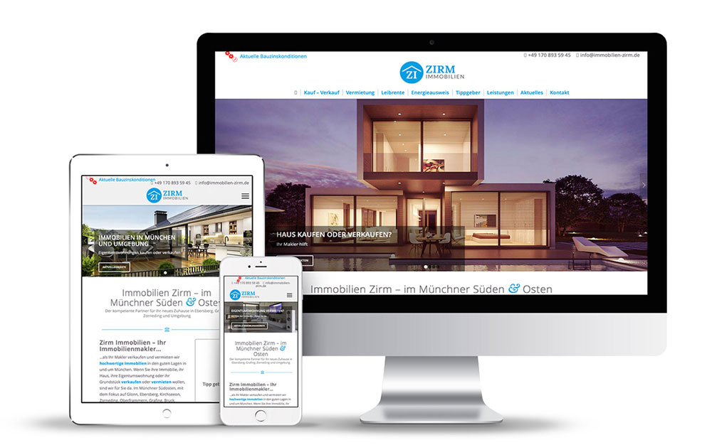 Webdesign für Immobilien-Makler mit WordPress