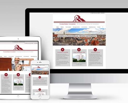 Webseite - Gestaltung für Immobilien-Makler