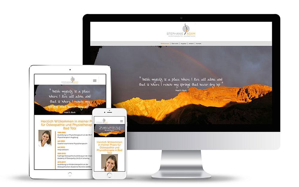 Das Webdesign für Physiotherapie Adam wurde mit WordPress erstellt.