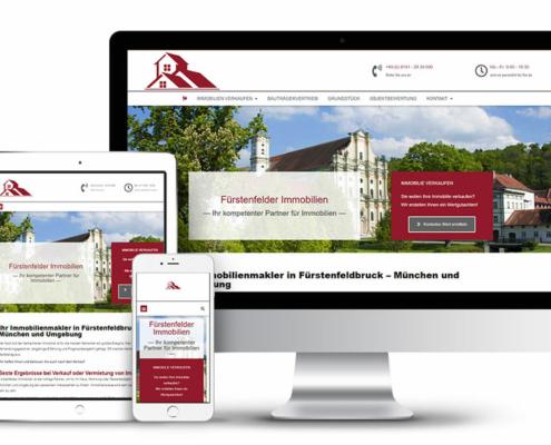 Webseitengestaltung für Immobilienmakler Fürstenfelder