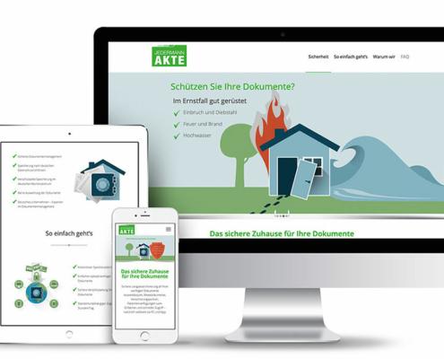 Webseite für Dokumentensicherheit Jedermann AKte