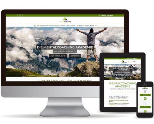 Webseite mit Wordpess für die Mentalcoaching Akademie in Bad Tölz