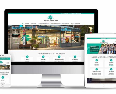 Webseite auf Wordpress Basis für die Palmen Apotheke in Ottobrunn
