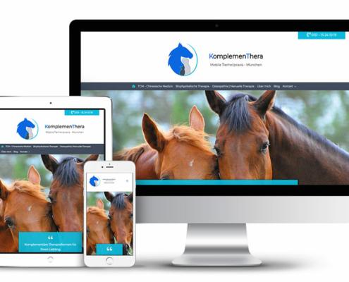 Webseite mit Wordpress für mobile Tierheilpraxis KomplemenThera in München